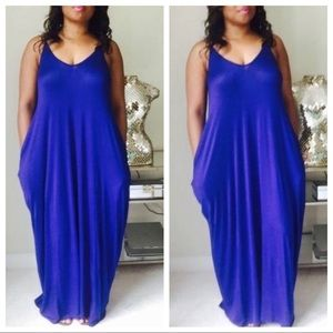 Dresses & Skirts - Royal Blue Maxi Dress